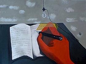 Au bout de la nuit, manuscrit - PEINTURES / Tableaux Figuratifs